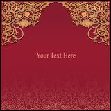 Rich arabic background. vector EPS8 Stock Photo