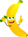Rich banana with attitude Stock Images