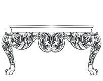 Rich Baroque byråtabell Arkivbild