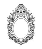 Rich Baroque Mirror frame. Vector French Luxury rich intricate ornaments. Victorian Royal Style decor. S stock illustration