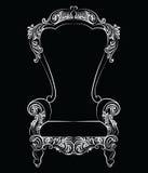Rich Baroque Rococo Armchair fabuleux illustration libre de droits