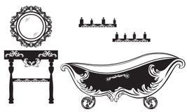 Rich Baroque Rococo bathroom set Royalty Free Stock Photos