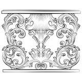 Rich Baroque Table illustrazione di stock
