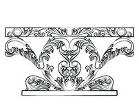 Rich Baroque Table mit Luxusverzierungen Lizenzfreie Stockbilder