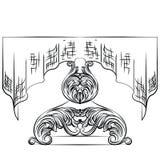 Rich Baroque Table mit Tischdecke Stockfotografie