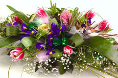 Rich and beautiful bouquet of different flowers Royalty Free Stock Photos