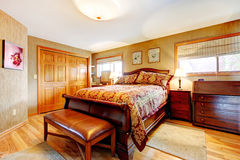 Rich bedroom wtih antique furniture set Stock Photo