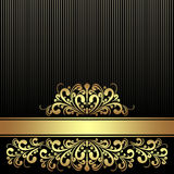 Rich black Background with Ribbon. Royalty Free Stock Images