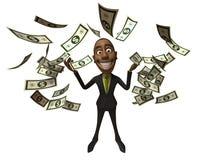 Rich black businessman Stock Images