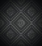 Rich black paisley background Stock Image