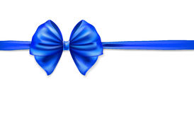 Rich blue bow Stock Photo