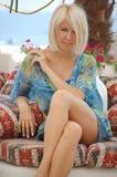 Rich bohemian blond woman Royalty Free Stock Photos