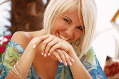 Rich bohemian blond woman Stock Image
