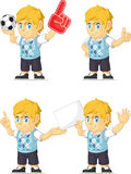 Rich Boy Customizable Mascot blond 3 Photographie stock