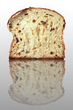 Rich bread on the mirror surface Stock Photography