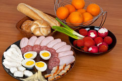 Rich breakfast Stock Images