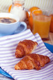 A rich breakfast with croissant , close up Royalty Free Stock Image