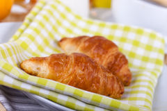A rich breakfast with croissant , close up Stock Photography