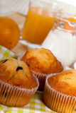 A rich breakfast with muffins , close up Stock Photo
