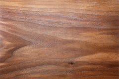 Rich Brown Background del grano figurado y texturizado de la nuez Wo Fotos de archivo