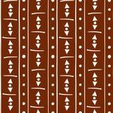 Rich burnt siena and white tribal stripes royalty free illustration