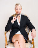 Rich business woman. Stock Photos