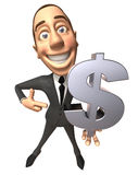 Rich businessman Stock Images