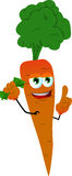 Rich carrot with attitude Stock Image