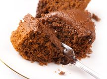 Rich chocolate cake Stock Images
