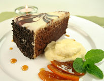 Rich Chocolate Cake Royalty Free Stock Photography