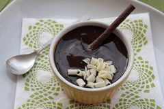 Rich Chocolate Mousse  Stock Image