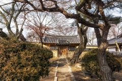 Rich choi family of gyeongju. Traditional estate located in gyodong village, gyeongju, south korea Stock Photo