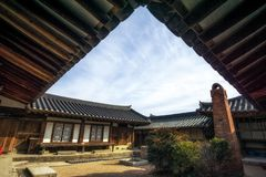 Rich choi family of gyeongju. Traditional estate located in gyodong village, gyeongju, south korea Stock Images