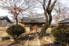 Rich choi family of gyeongju. Traditional estate located in gyodong village, gyeongju, south korea Stock Photography