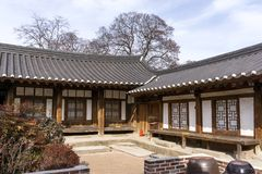 Rich choi family of gyeongju. Traditional estate located in gyodong village, gyeongju, south korea Stock Image