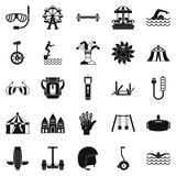 Rich city icons set, simple style. Rich city icons set. Simple set of 25 rich city vector icons for web isolated on white background Stock Photography