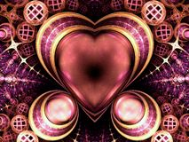 Rich colorful jewel-like heart Royalty Free Stock Images