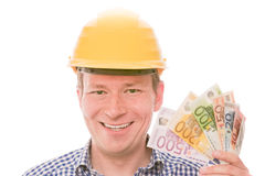 Rich construction worker Stock Image