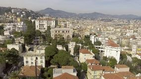 Rich cottages in well kept French district of Nice, rental property, aerial view