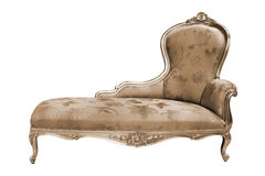 Rich couch. Beautiful and rich couch on white background Stock Images