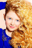 Rich curly hair Royalty Free Stock Image
