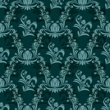 Rich damask seamless ornamental Wallpaper Stock Photos