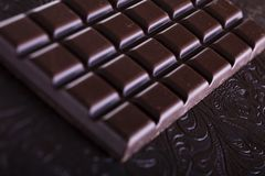 Rich dark chocolate Stock Photography