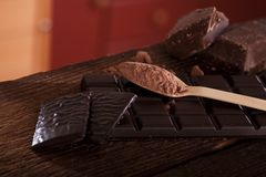Rich dark chocolate Royalty Free Stock Images