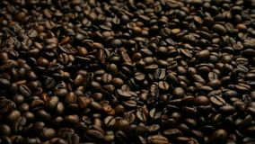 Rich Dark Coffee Beans Moving-Schuss stock video