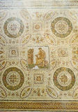 The rich decor. TUNIS, TUNISIA - SEPTEMBER 2, 2015: The Bardo National Museum boasts one of the best collections of the ancient mosaics, on September 2 in Tunis Royalty Free Stock Photo