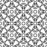 Rich decorated calligraphic outlined stroke seamless pattern. Stock Photos