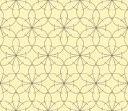 Rich decorated calligraphic outlined stroke seamless pattern. Royalty Free Stock Images