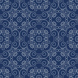 Rich decorated calligraphic outlined stroke seamless pattern in Royalty Free Stock Images