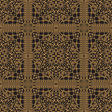 Rich decorated calligraphic outlined stroke seamless pattern in Royalty Free Stock Photo